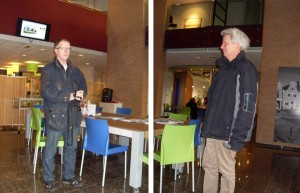 Hendrik de Jonge, monteur Technische dienst en lid Cie Erfgoed en Henk Pompstra, psychiatrisch verpleegkundige FACT Groningen en lid Cie Erfgoed.