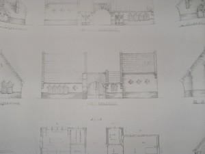 Ontwerp uit 1943 t.a.v. een nieuw ' lijkenhuis' (die er overigens nooit gekomen is. (Foto Monique Huizer)