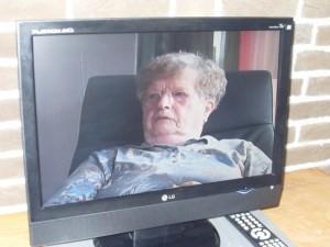 Interview met zuster Botter over o.a. het Mortuarium en haar gebeurtenissen. (Foto Monique Huizer)