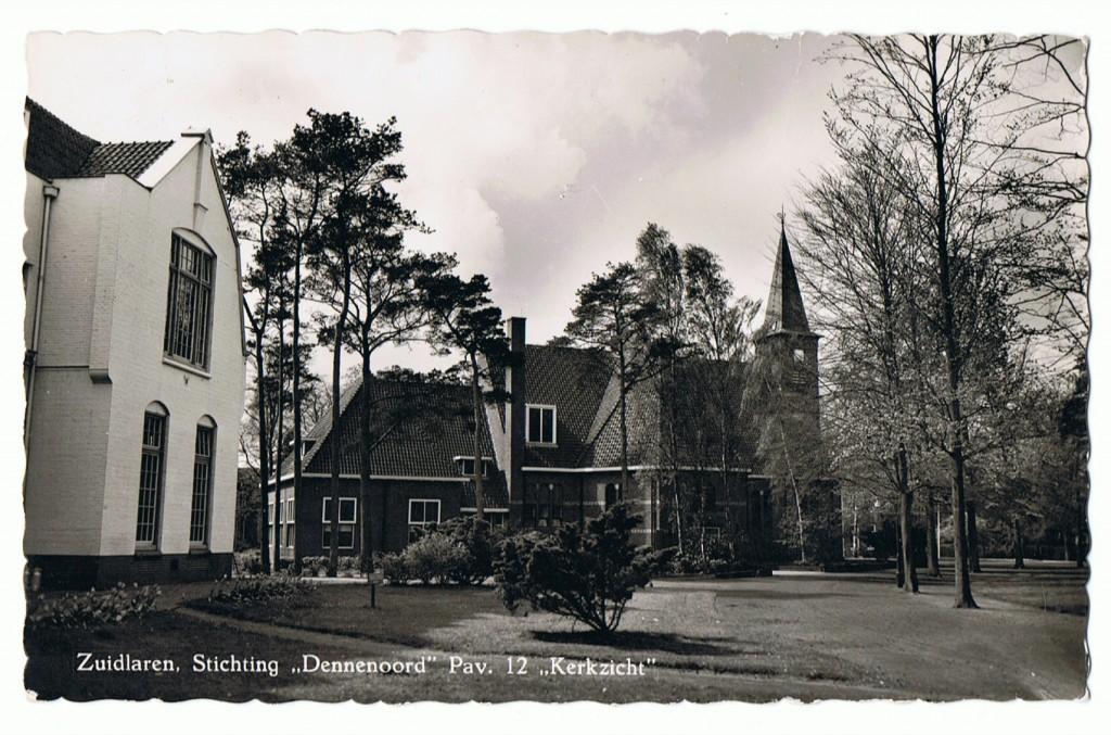 1963.00 - Borgwal, paviljoen 12 (Kerkzicht) en Kerk.